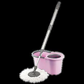 Набор для уборки Planet Spin Mop Midi 16 л розовый
