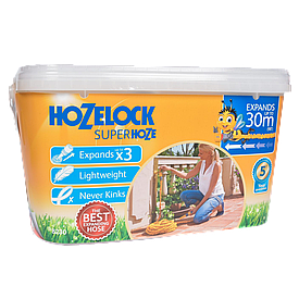 Шланг 30 м растягивающийся Superhoze + коннектора Hozelock 8230