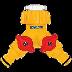 "Коннектор для крана двойной 1/2"" 21 мм и 3/4"" 26,5 мм + адаптер HoZelock 2256"