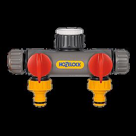 """Разделитель двухпотоковый + адаптеры 1/2""""; 3/4""""; 1"""" HoZelock 2252"""