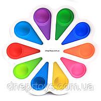 Тактильная игрушка антистресс Поп ит (Pop it)  Simple Dimple (Симпл Димпл) белая (S10), фото 2