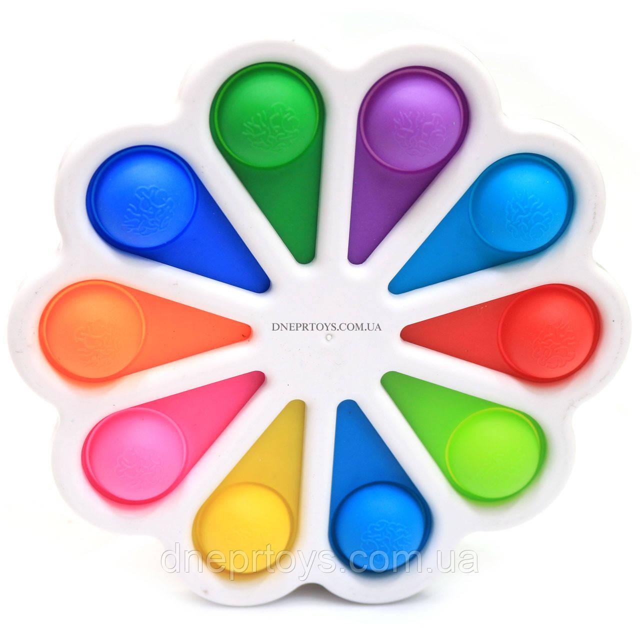 Тактильная игрушка антистресс Поп ит (Pop it)  Simple Dimple (Симпл Димпл) белая (S10)