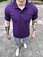 Мужская футболка-поло фиолетовая, фото 1