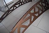 Готовий збірний дашок 1,5х1 м Хайтек з монолітним полікарбонатом 4 мм, фото 3