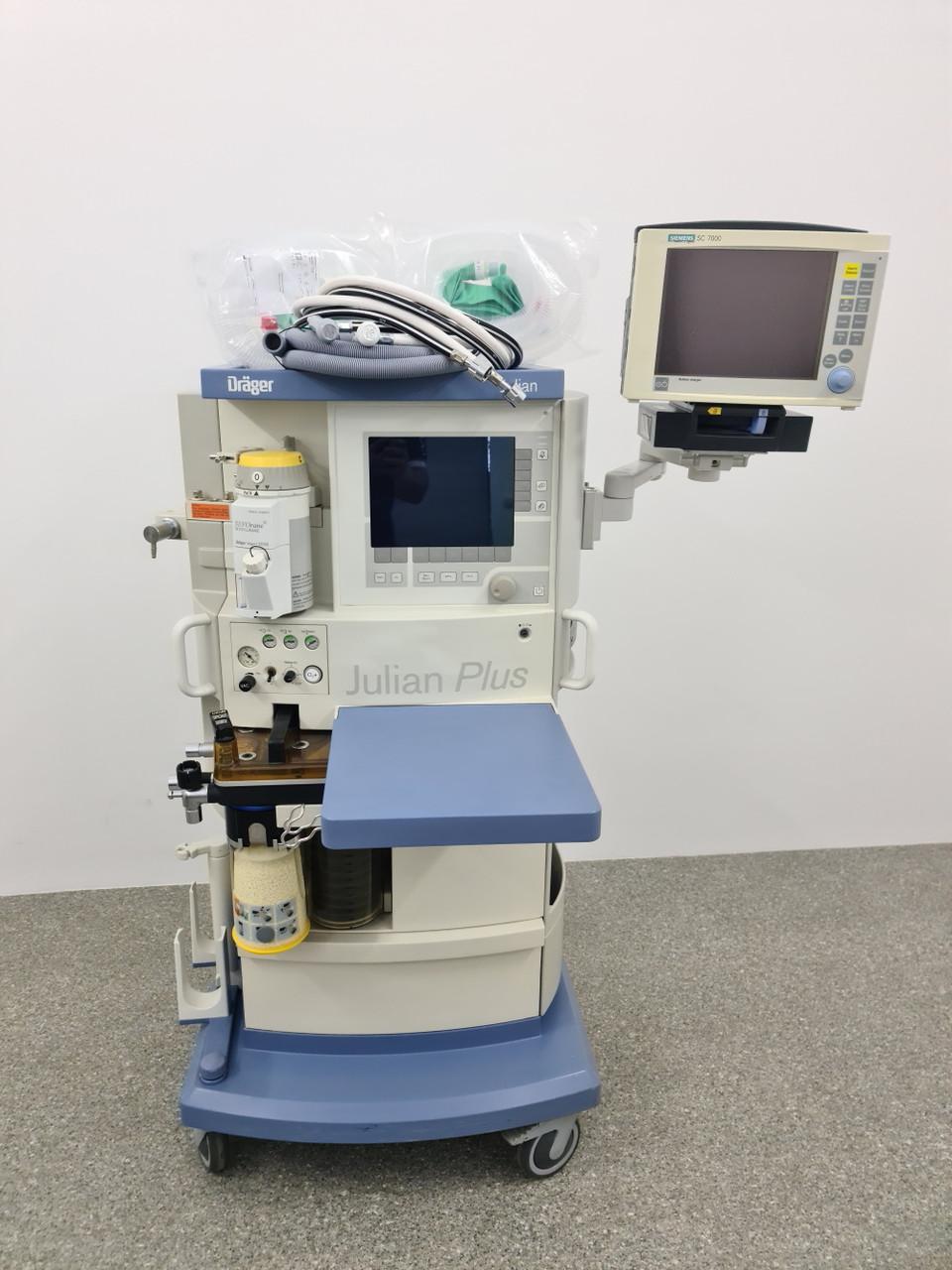 Dräger Julian Наркозный-дыхательный аппарат с испарителем и монитором пациента
