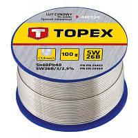 Припій для пайки Topex олов'яний 60%Sn, дріт 1.5 мм,100 г (44E524)