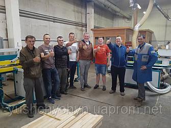 """ЧП """"Ющишин"""" установило полуавтоматическую линию продольного сращивания древесины ТМ Nasto для ООО """"Нуминатор"""""""