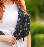 Сумка на пояс бананка через плечо текстиль, фото 2