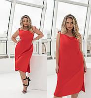 Платье женское на бретельках красное (6 цветов) ТК/-6265