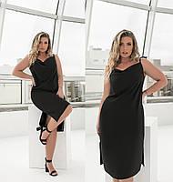 Платье женское на бретельках черное (6 цветов) ТК/-6265