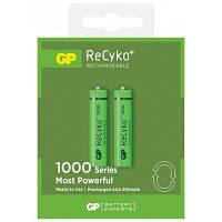 Аккумулятор GP AAA 100AAAHCE-2GBE2 Recyko+ 1000 mAh * 2 (100AAAHCE / 4891199079061)