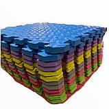 Килимок-пазл EVA , набір 12шт., 1,08 м2, 30х30 см, т. 10 мм щільність 80-100 кг/м3 TERMOIZOL®, фото 6