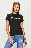 Женская футболка Champion, черная чемпион, фото 1