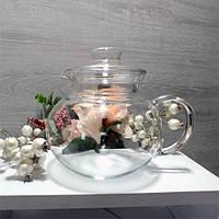 Заварювальний скляний чайник (заварник) 1 л