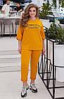 Спортивный костюм женский батал NOBILITAS 50 - 60 черный трикотаж (арт. 21007), фото 10