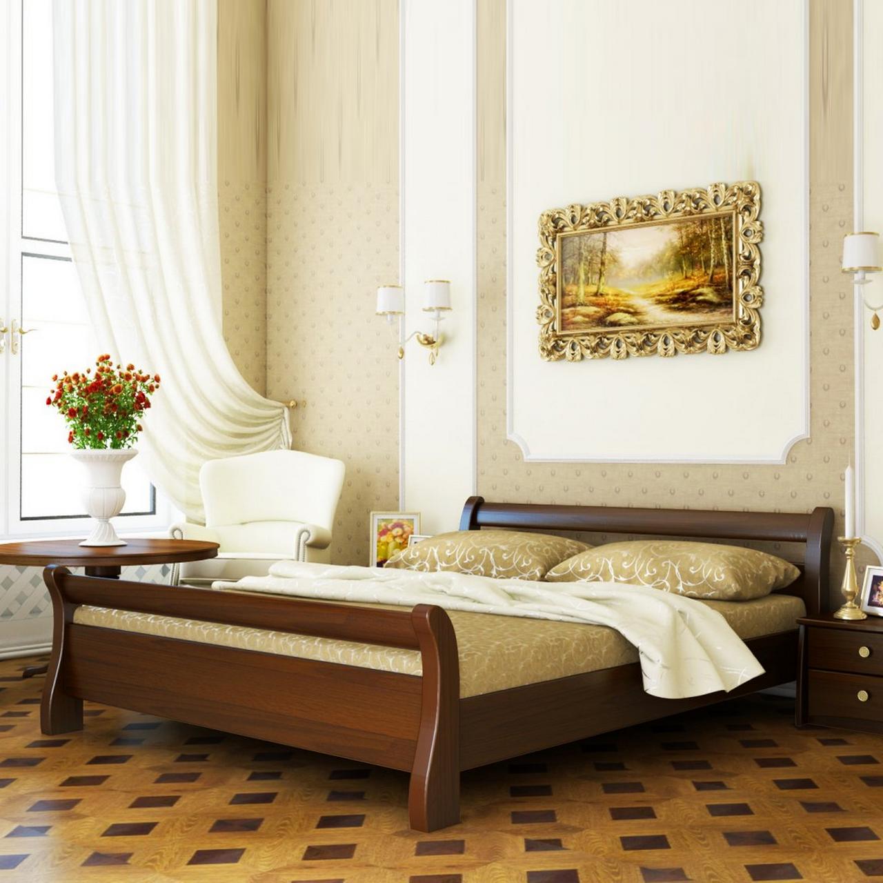 Кровать деревянная двуспальная Диана (бук)