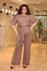 Женский костюм брюки+кофта большого размера