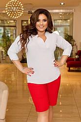 Блуза жіноча приталені великого розміру