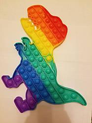 """Сенсорна іграшка Поп іт, pop it """"динозаврь"""" з рефлеными, поп іт антистрес, поп-іт, (pop It) розмір: 30х14см."""