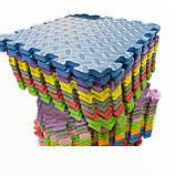 Килимок-пазл EVA , набір 12 шт, 3 м2, 50х50 см, т. 10 мм щільність 80-100 кг/м3 TERMOIZOL®, фото 7