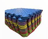 Килимок-пазл EVA , набір 12 шт, 3 м2, 50х50 см, т. 10 мм щільність 80-100 кг/м3 TERMOIZOL®, фото 4