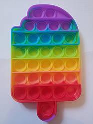 """Сенсорная игрушка Поп ит, pop it """"мороженое"""" с рефлеными буквами и цифрами,поп іт антистресс, поп-ит, (pop It"""