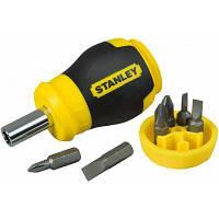 Отвертка Stanley Multibit Stubby с 6 сменными битами (0-66-357) ©