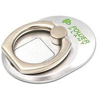Тримач для смартфонів PowerPlant з кільцем, сріблястий (CA910304)