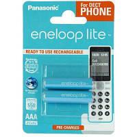 Аккумулятор PANASONIC Eneloop Lite AAA 550mAh NI-MH Dect Series * 2 (BK-4LCCE/2DE)