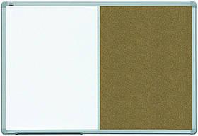 Доска комбинированная маркер/пробка на стену в алюминиевой раме ALU23 2x3