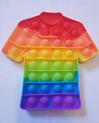 """Сенсорная игрушка Поп ит, pop it """"футбол"""" с рефлеными буквами и цифрами,поп іт антистресс.размер 17см х 17см"""