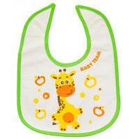 Нагрудничек Baby Team на липучке (6502_жираф)