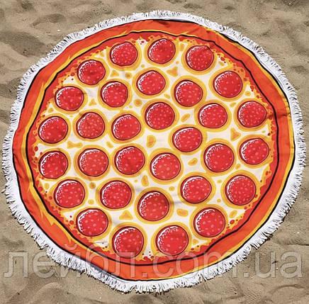 Пляжное круглое полотенце из микрофибры - Пицца, фото 2
