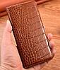 """Чехол книжка из натуральной премиум кожи противоударный магнитный для MEIZU 15 LITE """"CROCODILE"""", фото 7"""