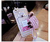 """Силиконовый чехол со стразами жидкий противоударный TPU для MEIZU 15 LITE """"MISS DIOR"""", фото 6"""