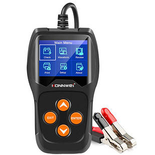 Тестер автомобильного аккумулятора, цифровой, 12В, Konnwei KW600