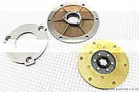 Сцепление - Диск фрикционный, прижимной, крышка торцевая к-кт 3шт на мотоблок с двигателем  175N / 180N