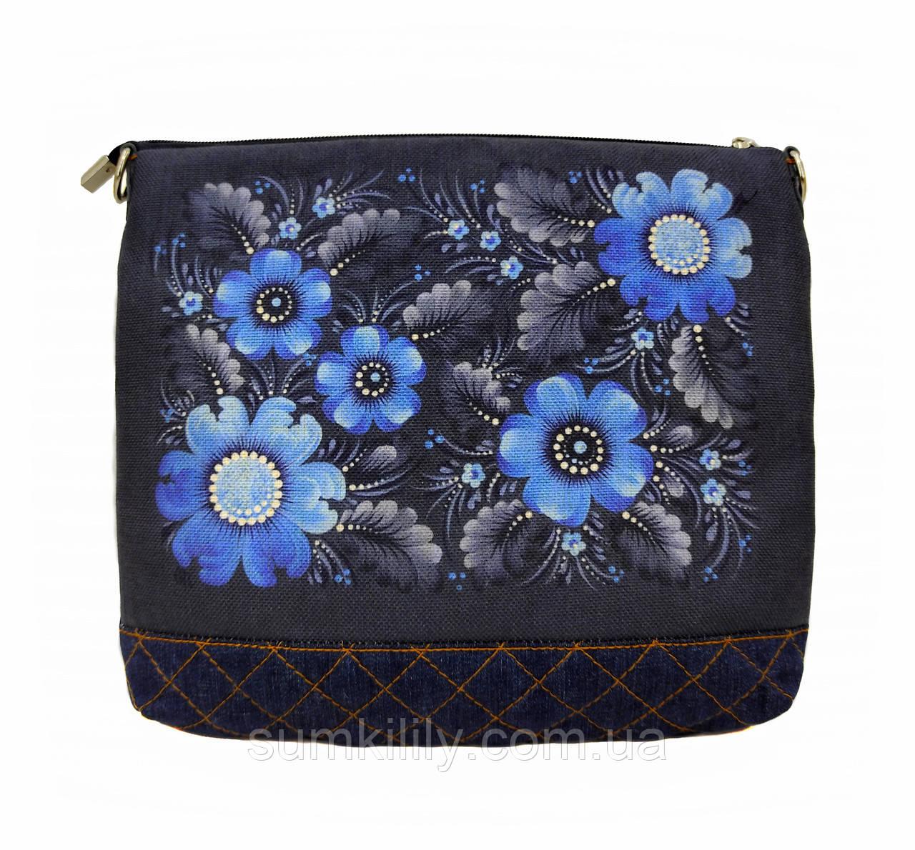 Джинсовая сумочка Голубая фантазия