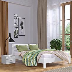 Кровать деревянная полуторная Рената Люкс (бук)