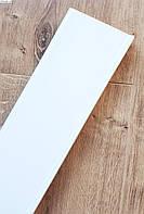 Плинтус пластиковый Идеал Деконика 85 мм 001-G Белый Глянцевый, с мягкими краями, высокий, с кабель каналом