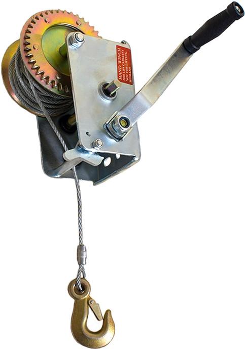 Лебедка ручная барабанная 900 кг INTERTOOL GT1455
