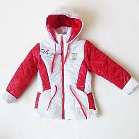 демисезонная куртка для девочки с капюшоном