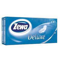 Носові хустки Zewa Deluxe 3 шару 10 шт х 10 пачок (9011111516145)