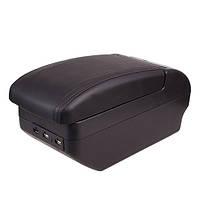 """Подлокотник универсальный BLACK """"MILEX"""" 9 USB PS-U10009 (32X14.5X15.5)"""