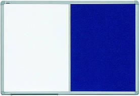 Доска комбинированная маркер/текстиль на стену в алюминиевой раме ALU23 2x3