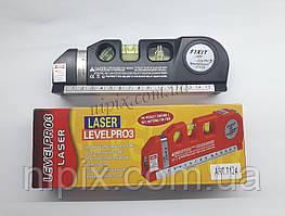 Лазерный уровень Fixit Laser Level Pro PR0 3 со встроенной рулеткой