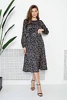 Сукня NENKA 3107-c02 XL Чорний/Принт, фото 1