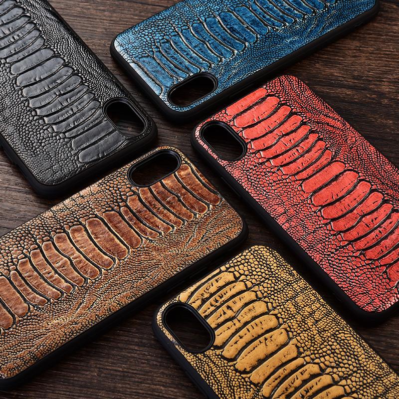 """Силиконовый чехол накладка противоударный со вставкой из натуральной кожи для Samsung A10s A107F """"GENUINE"""""""