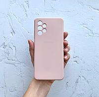 Чехол на Samsung Galaxy A32 4G Silicone Case пудровый силиконовый / для Самсунг Гелекси А32