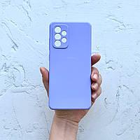 Чехол на Samsung Galaxy A52 Silicone Case фиалковый силиконовый / для Самсунг Гелекси А52
